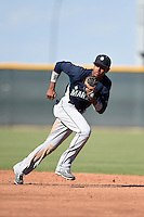 Seattle Mariners infielder Erick Mejia (22) during an Instructional League game against the Cleveland Indians on October 1, 2014 at Goodyear Training Complex in Goodyear, Arizona.  (Mike Janes/Four Seam Images)