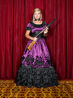 Summer McKinnon (cq, age 14), with the Coffee County Center Shot from Douglas, GA, at the 2014 Daisy National BB Gun Championship Match in Rogers, Arkansas, Friday, July 4, 2014.<br /> <br /> Photo by Matt Nager