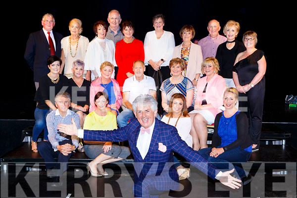 TV3 Noel Cunningham with the models that appeared in the Models in recovery fashion show on Tuesday eveningfront row l-r: Ambrose Donnelly, Mags Kelly, Helen Moloney, Nicky Grover. Middle row: Norma Murphy, Madaline McCarthy, Noreen O'Donoghue, John Healy, Martha Dineen, Teresa McSweeney. Back row: Diarmuid Crowley, Bernie O'Sullivan, Ann Mangan, Kathleen Ryan, Cathal Walshe, Margaret Murphy, Geraldine Guilfoyle, Michael Walsh, Mary Kelly, Marie Kearney