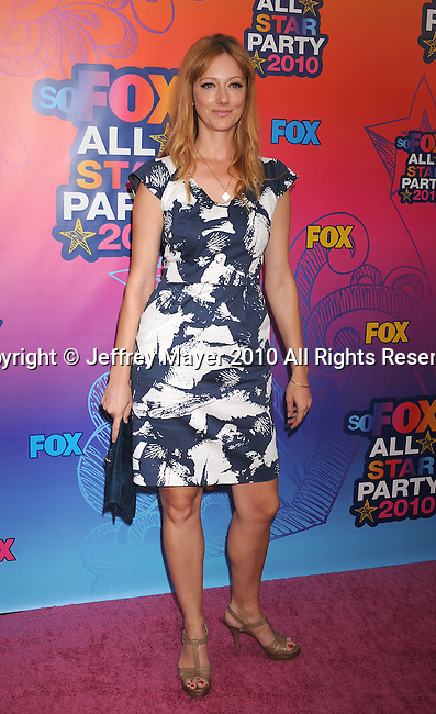 SANTA MONICA, CA. - August 02: Judy Greer arrives at the FOX 2010 Summer TCA All-Star Party at Pacific Park - Santa Monica Pier on August 2, 2010 in Santa Monica, California.