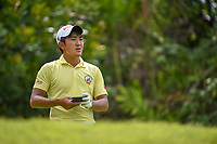 Takumi KANAYA (JPN) looks over his tee shot on 7 during Rd 4 of the Asia-Pacific Amateur Championship, Sentosa Golf Club, Singapore. 10/7/2018.<br /> Picture: Golffile | Ken Murray<br /> <br /> <br /> All photo usage must carry mandatory copyright credit (© Golffile | Ken Murray)