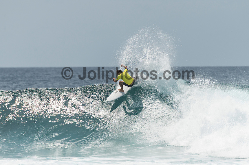Four Seasons,Kuda Huraa, Maldives (Friday, August 7, 2015) Brad Gerlach (USA). The worlds 'most luxurious surfing event,' the Four Seasons Maldives Surfing Champions Trophy continued today  at the famed 'Sultans Point' with the Thruster Round.The swell was out of the South East  with waves in the 4'-6' range.  Neco Padaratz (BRA) and Shane Dorian (HAW) fought out the tough final with Dorian scoring a perfect 10 point ride for a deep barrel and the win.  Photo: joliphotos.com