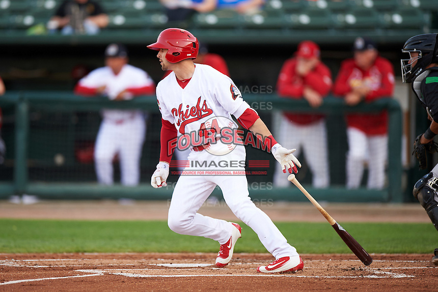 Peoria Chiefs right fielder Thomas Spitz (44) during a game against the Dayton Dragons on May 6, 2016 at Dozer Park in Peoria, Illinois.  Peoria defeated Dayton 5-0.  (Mike Janes/Four Seam Images)