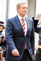 il Primo Ministro della Repubblica d'Irlanda, Enda Kenny. .Roma, 21/09/2012.Palazzo Chigi, picchetto d'onore.Foto Insidefoto / Antonietta Baldassarre.