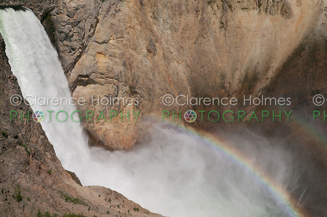 Double rainbow over Grand Canyon of the Yellowstone and Lower Falls from Uncle Tom's Trail,  Yellowstone National Park