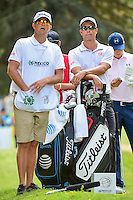 Adam Scott (AUS) and his caddie look over the 7th tee box  during round 2 of the World Golf Championships, Mexico, Club De Golf Chapultepec, Mexico City, Mexico. 3/3/2017.<br /> Picture: Golffile | Ken Murray<br /> <br /> <br /> All photo usage must carry mandatory copyright credit (&copy; Golffile | Ken Murray)