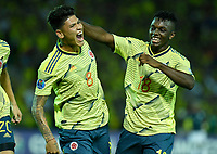 ARMENIA – COLOMBIA, 19-01-2020:Jorge Carrascal de Colombia celebra después de anotar el segundo gol de su equipo durante partido entre Colombia y Ecuador por la fecha 2, grupo A, del CONMEBOL Preolímpico Colombia 2020 jugado en el estadio Centenario de Armenia, Colombia. /  Jorge Carrascal of Colombia celebrates after scoring the segundo goal of his team during the match between Colombia and Ecuador for the date 2, group A, for the CONMEBOL Pre-Olympic Tournament Colombia 2020 played at Centenario stadium in Armenia, Colombia Colombia y Ecuador en partido de la fecha 2, grupo A, del CONMEBOL Preolímpico Colombia 2020 jugado en el estadio Centenario de Armenia, Colombia. / Colombia and Ecuador in match of the date 2, group A, for the CONMEBOL Pre-Olympic Tournament Colombia 2020 played at Centenario stadium in Armenia, Colombia. Photos: VizzorImage / Julian Medina / Cont