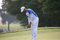 Just 18 inches away from the pin on the 16th - missed putt - Jaco Van Zyl (RSA) during Round Three of the 2016 BMW PGA Championship over the West Course at Wentworth, Virginia Water, London. 28/05/2016. Picture: Golffile   David Lloyd. <br /> <br /> All photo usage must display a mandatory copyright credit to © Golffile   David Lloyd.