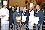 Ballygarry House Hotel & Spa, Tralee was voted the best 4star Wedding Venue in Ireland and accepting the prizezl-r: Mike Olszewski (Restaurant Chef),Miriam Ferrister (Sales & Marketing), Marie Galvin (Revenue manager), Cathal Nugent (Deputy manager), Jeff Fitzgibbon(Chef) and Thys Vogels (Hotel manager) accepting the awarded for the Best 4star Hotel.