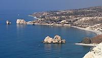 Petra Tou Romiou,Aphrodite's rock,Cyprus.