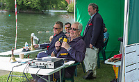 Maidenhead. Berkshire. United Kingdom. <br /> <br /> Self Styled,  &quot;Voice of the Rowing&quot; Robert TREHARNE JONES, commentating at the 2017 Maidenhead Junior Regatta  River Thames. <br /> <br /> [&copy;Peter SPURRIER/Intersport Images] Sunday. 14.05.2017