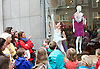 Deloitte Ignite <br /> SHOP WINDOWS IN COVENT GARDEN PIAZZA HOST WORLD PREMIERE OF A NEW DANCE PIECE AHEAD OF DELOITTE IGNITE CONTEMPORARY ARTS FESTIVAL<br /> featuring:<br /> Elisabetta d&rsquo;Aloia <br /> Chris Knight <br /> Carl Harrison <br /> Fania Grigoriou<br /> Stephanie Dufresne<br /> <br /> Dancers from the Protein Dance Company performing in and out of shop windows of the Royal Opera House colonnade of Covent Garden piazza for the world premiere of a new piece<br /> <br /> East side of Covent Garden piazza, Royal Opera House colonnade, London<br /> <br /> 26 August 2014 <br /> <br /> <br /> Photograph by Elliott Franks <br /> Image licensed to Elliott Franks Photography Services