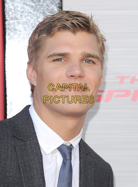 Chris Zylka.'The Amazing Spider-Man' Premiere held at Regency Village Theater in Westwood, California, USA. .June 28th, 2012.headshot portrait black grey gray blue tie .CAP/RKE/DVS.©DVS/RockinExposures/Capital Pictures.