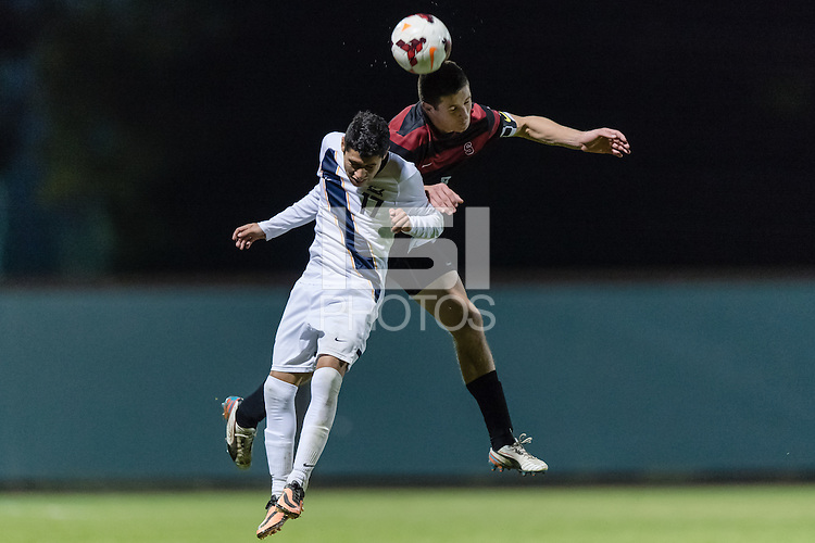 November 13, 2013:  JJ Koval during the Stanford vs Cal men's soccer match in Stanford, California.  Stanford won 2-1 in overtime.