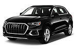 2019 Audi Q3 Premium-Plus 5 Door SUV Angular Front automotive stock photos of front three quarter view