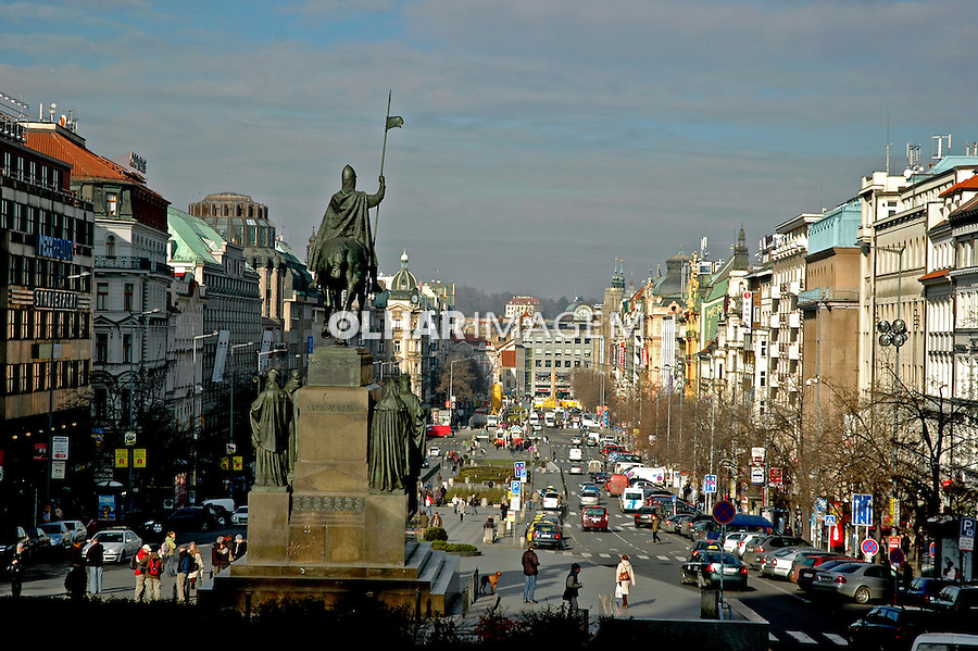 Avenida em Praga. Republica Tcheca. 2008. Foto de Zaida Siqueira.