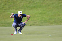 Ross Fisher (ENG) on the 13th green during Thursday's Round 1 of the 2017 Omega European Masters held at Golf Club Crans-Sur-Sierre, Crans Montana, Switzerland. 7th September 2017.<br /> Picture: Eoin Clarke | Golffile<br /> <br /> <br /> All photos usage must carry mandatory copyright credit (&copy; Golffile | Eoin Clarke)