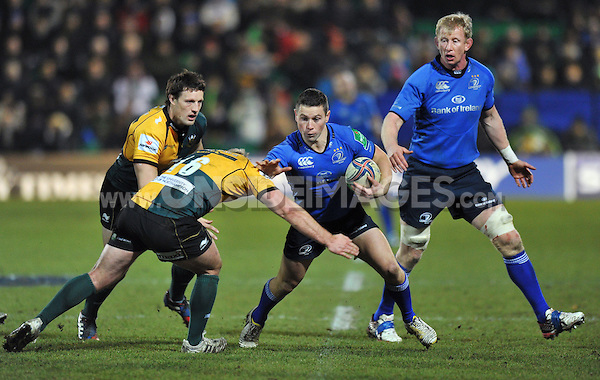 John Cooney in possession. Heineken Cup match, between Northampton Saints and Leinster on December 7, 2013 at Franklin's Gardens in Northampton, England. Photo by: Patrick Khachfe / JMP