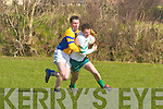 Barry Grady Ballyduff a St. Senan's player in The County League Div Five in Ballyduff on Sunday..