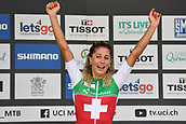 9th September 2017, Smithfield Forest, Cairns, Australia; UCI Mountain Bike World Championships; Jolanda Neff (SUI) riding for Kross Racing Team is full of emotion after winning the elite womens cross country race