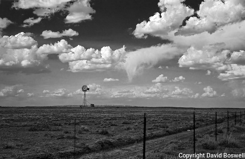 A windmill in the high desert of Northern New Mexico, south of Farmington