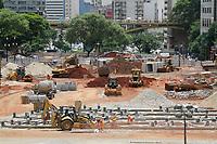 SÃO PAULO, SP, 31.01.2020: OBRAS-VALE-ANHANGABAÚ-SP - Obras do vale do Anhangabaú, região central de São Paulo, na tarde desta sexta-feira, 31.  (Foto: Fábio Vieira/FotoRua)