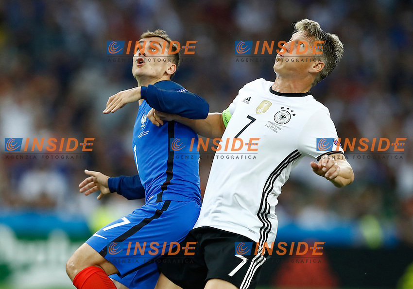 Antoine Griezmann (France) and Bastian Schweinsteiger (Germany) <br /> Marseille 07-07-2016 Stade Velodrome Football Euro2016 Germany - France / Germania - Francia Semi-finals / Semifinali <br /> Foto Matteo Ciambelli / Insidefoto