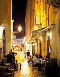 Dinner al fresco, Puglia, Italy, Europe