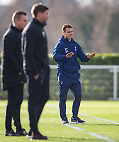 Spurs U18 Coach Scott Parker during the U18 Premier League Cup match between Tottenham Hotspur and Liverpool at Tottenham Training Ground, Hotspur Way, London, England on 10 January 2018. Photo by Andy Rowland / PRiME Media Images