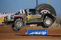 Apr 16, 2011; Surprise, AZ USA; LOORRS driver Rob MacCachren (1) during round 3 at Speedworld Off Road Park. Mandatory Credit: Mark J. Rebilas-