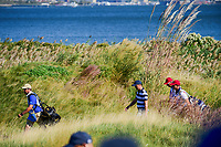 Justin Thomas (USA) makes his way down 10 during round 1 foursomes of the 2017 President's Cup, Liberty National Golf Club, Jersey City, New Jersey, USA. 9/28/2017.<br /> Picture: Golffile   Ken Murray<br /> ll photo usage must carry mandatory copyright credit (&copy; Golffile   Ken Murray)