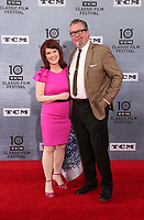 """Los Angeles CA Apr 11: Kate Flannery, Chris Haston, arrive to 2019 TCM Classic Film Festival Opening Night Gala And 30th Anniversary Screening Of """"When Harry Met Sally"""", TCL Chinese Theatre, Los Angeles, USA on April 11, 2019 <br /> CAP/MPI/FS<br /> ©FS/MPI/Capital Pictures"""