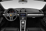 Stock photo of straight dashboard view of a 2019 Porsche 718 Boxster Base 2 Door Convertible