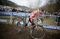 Mathieu Van der Poel (NLD/BKCP-Powerplus)<br /> <br /> Elite Men's race<br /> <br /> 2015 UCI World Championships Cyclocross <br /> Tabor, Czech Republic