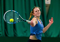 Wateringen, The Netherlands, March 16, 2018,  De Rhijenhof , NOJK 14/18 years, Nat. Junior Tennis Champ. Sophie Schouten (NED)<br /> Photo: www.tennisimages.com/Henk Koster