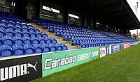 Signage from tournament sponsors Carabao on show during the Carabao Cup match between AFC Wimbledon and Brentford at the Cherry Red Records Stadium, Kingston, England on 8 August 2017. Photo by Carlton Myrie.