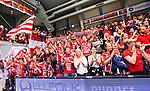 Eskilstuna 2014-05-12 Handboll SM-semifinal 3 Eskilstuna Guif - Alings&aring;s HK :  <br /> Eskilstuna Guif supportrar &auml;r glada efter matchen<br /> (Foto: Kenta J&ouml;nsson) Nyckelord:  Eskilstuna Guif Sporthallen Alings&aring;s AHK SM Semifinal Semi supporter fans publik supporters jubel gl&auml;dje lycka glad happy
