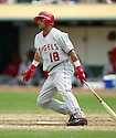 Orlando Cabrera, of the Los Angeles Angels, in action against the Oakland A's during their game on April 22, 2006...Angels win 5-4..Rob Holt / SportPics