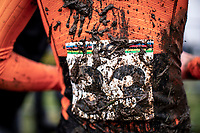 post race mud. <br /> <br /> Men's Junior race<br /> UCI 2020 Cyclocross World Championships<br /> Dübendorf / Switzerland<br /> <br /> ©kramon