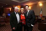 Celebrity Golf @ Golf Live.Gareth & Maureen Edwards with Ioan Gruffudd..Celtic Manor Resort.10.05.13.©Steve Pope