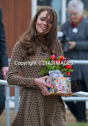 "CATHERINE, DUCHESS OF CAMBRIDGE .as Patron of Art Room visits the Oxford Spires Academy School, Oxford_21/02/2012.MANDATORY PHOTO CREDIT:©Dias/DIASIMAGES - NEWSPIX INTERNATIONAL..Mandatory credit photo:DiasImages/NEWSPIX INTERNATIONAL(Failure to credit will incur a surcharge of 100% of reproduction fees)..                **ALL FEES PAYABLE TO: ""NEWSPIX INTERNATIONAL""**..IMMEDIATE CONFIRMATION OF USAGE REQUIRED:.DiasImages, 31a Chinnery Hill, Bishop's Stortford, ENGLAND CM23 3PS.Tel:+441279 324672  ; Fax: +441279656877.Mobile:  07775681153.e-mail: info@newspixinternational.co.uk"
