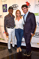 LAS VEGAS, NV - JUNE 30: Montel Williams, Cheryl Hines and RJ MItte at the One Step Closer Foundation Celebrity Charity Poker Tournament at Aria in Las Vegas, Nevada on June 30, 2019. <br /> CAP/MPI/DAM<br /> ©DAM/MPI/Capital Pictures