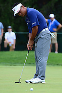 Bethesda, MD - June 24, 2016: K.J. Choi putts on the  hole 1 green during Round 2 of professional play at the Quicken Loans National Tournament at the Congressional Country Club in Bethesda, MD, June 24, 2016.  (Photo by Don Baxter/Media Images International)