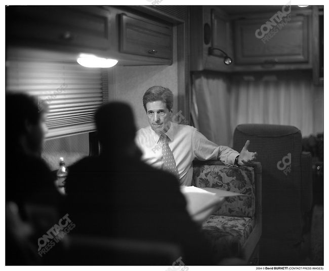 Senator John Kerry on the campaign trail.  March, 2004.