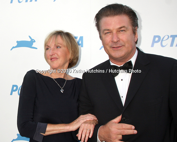 LOS ANGELES - SEP 25:  Ingrid Newkirk, Alec Baldwin arrives at the PETA 30th Anniversary Gala at Hollywood Palladium on September 25, 2010 in Los Angeles, CA