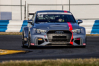 54, Audi, Audi RS3 LMS TCR, TCR, Michael Johnson, Stephen Simpson, IMSA Continental Tire SportsCar Challenge<br /> December Test<br /> Daytona International Speedway<br /> Daytona Beach, FL USA<br /> Wednesday, 06 December 2017<br /> <br /> World Copyright: Brian Cleary<br /> LAT Images