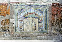Italy: Herculaneum--House of Neptune and Amphitritte. Mosaic and terra cotta. Photo '83.
