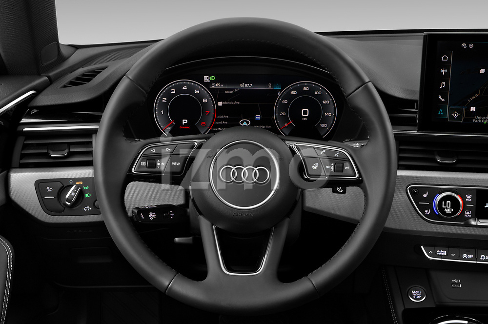 Car pictures of steering wheel view of a 2020 Audi A5-Sportback Premium-plus 5 Door Hatchback Steering Wheel