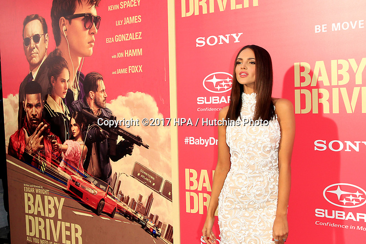 """LOS ANGELES - JUN 14:  Eiza Gonzalez at the """"Baby Driver"""" Premiere at the The Theater at Ace Hotel on June 14, 2017 in Los Angeles, CA"""
