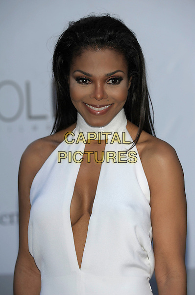 Janet Jackson.AmFAR Cinema Against AIDS 2012, Hotel du Cap, Antibes during the 65th  Cannes Film Festival, France..24th May 2012.half length white sleeveless dress cut out cleavage .CAP/PL.©Phil Loftus/Capital Pictures.